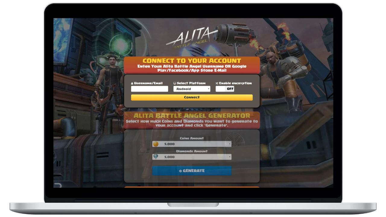 Alita Battle Angel hack coins generator