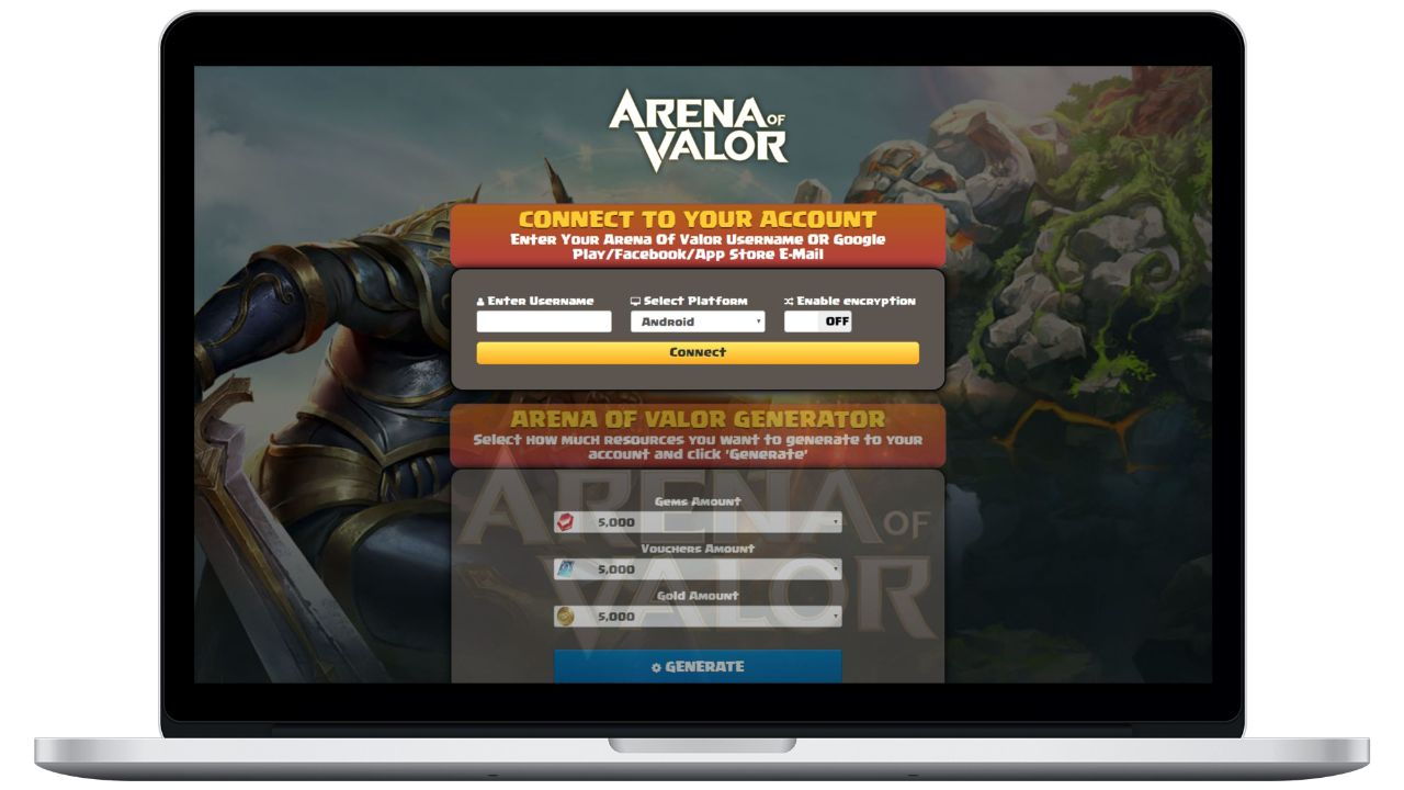 Arena Of Valor hack gems generator