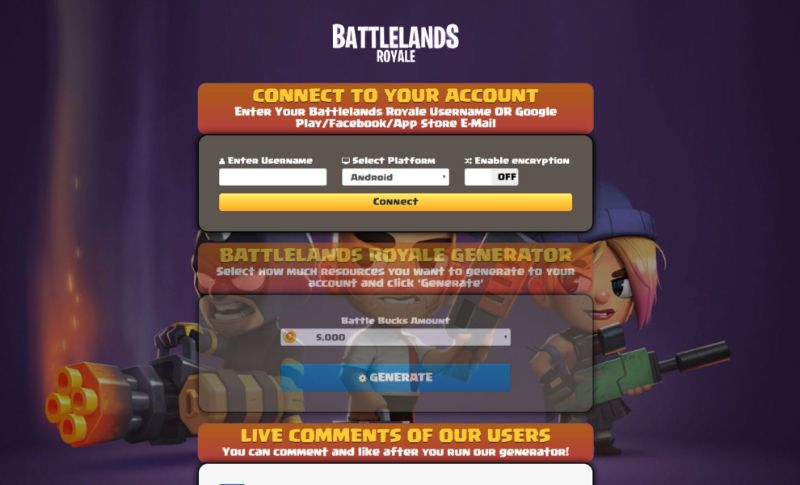 Battlelands Royale hack 2020