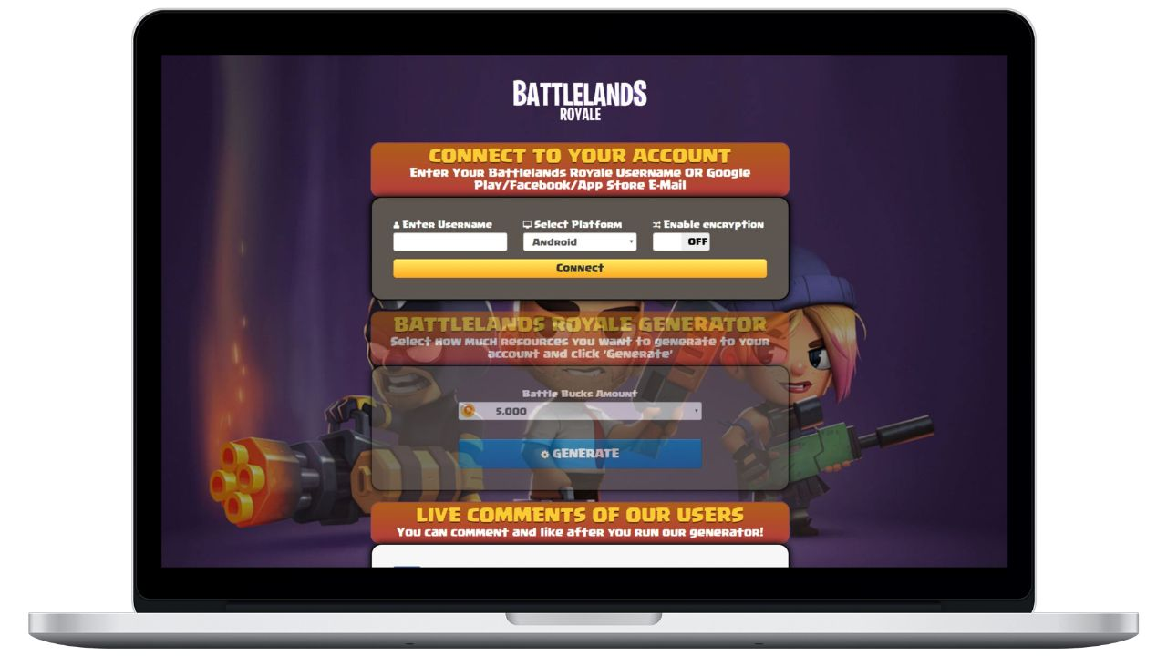 Battlelands Royale hack battle bucks generator