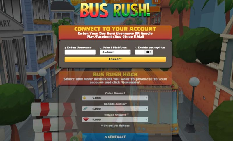 Bus Rush hack 2019