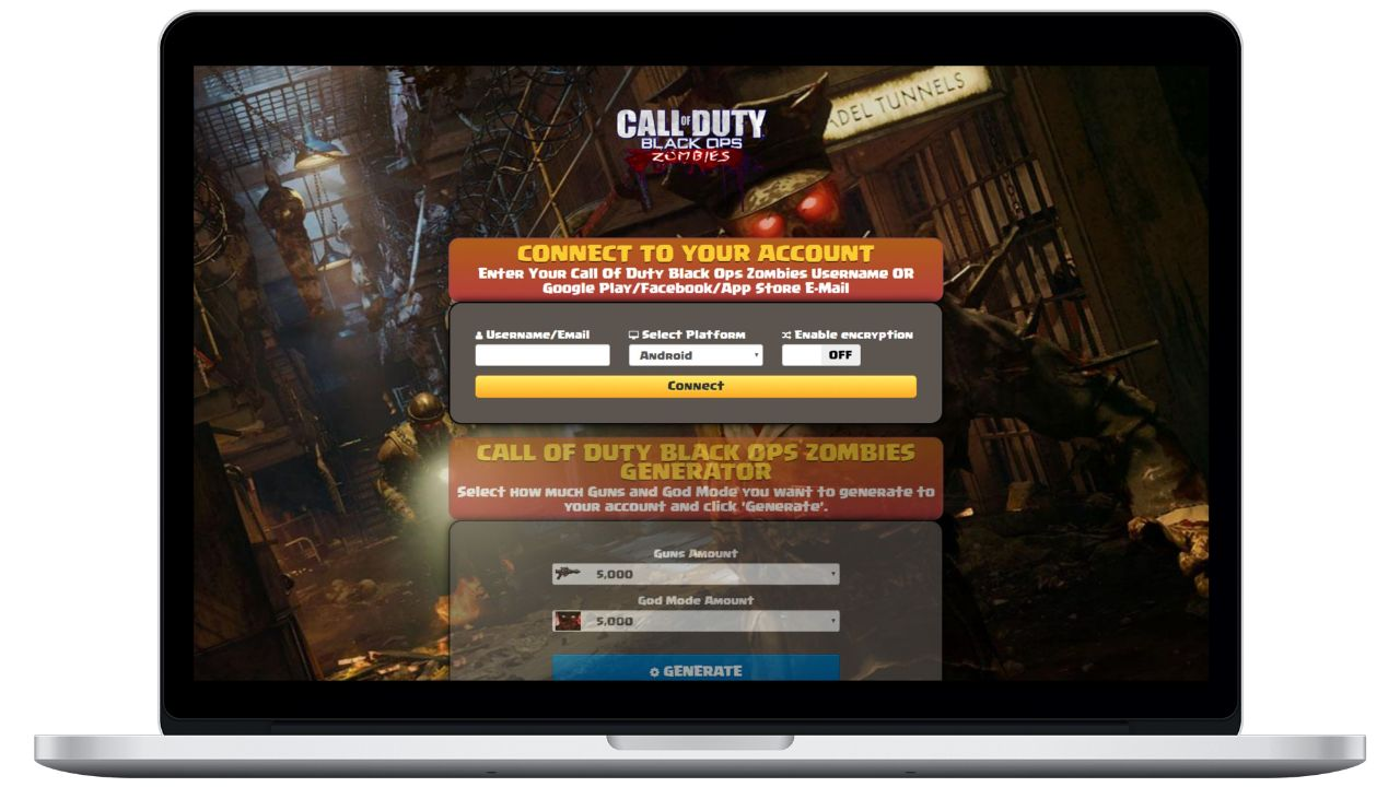 Call Of Duty: Black Ops - Zombies hack guns generator