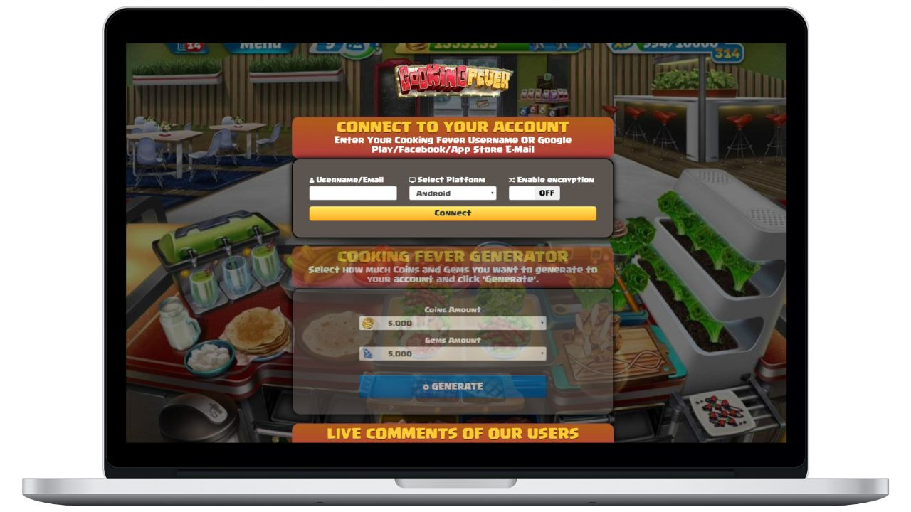 Cooking Fever hack coins generator