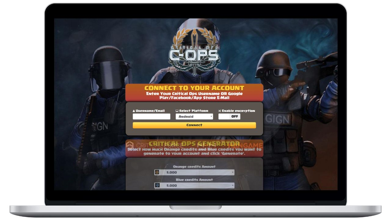 Critical Ops hack orange credits generator