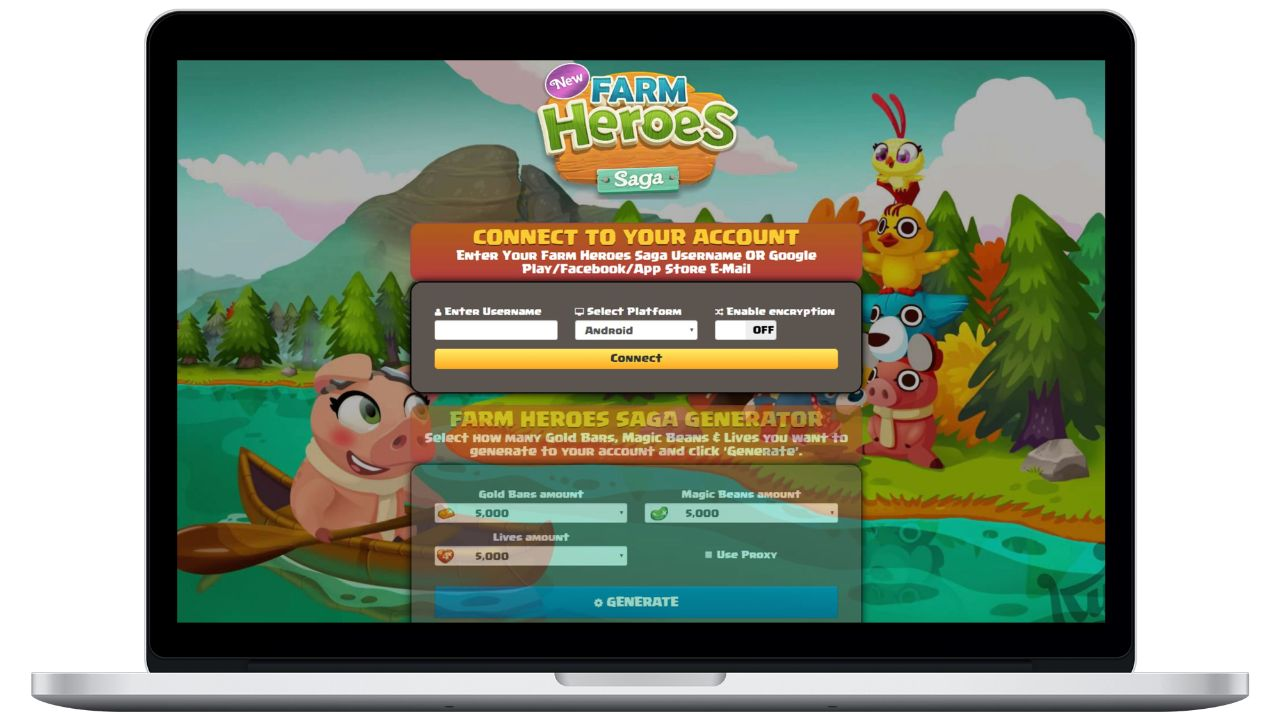 Farm Heroes Saga hack gold bars generator