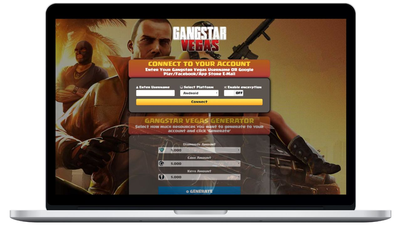 Gangstar Vegas hack diamonds generator