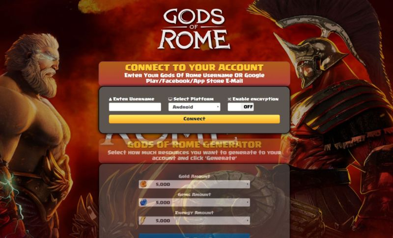 Gods Of Rome hack 2020