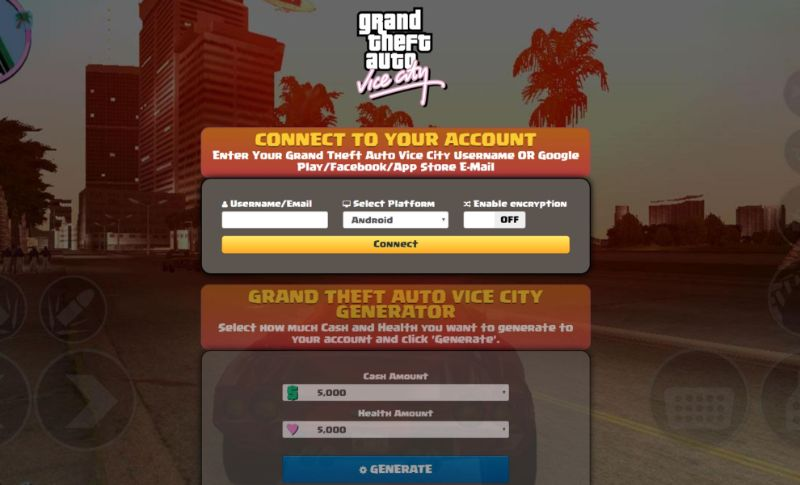 Grand Theft Auto Vice City Hack 2019 - Online Cheat For