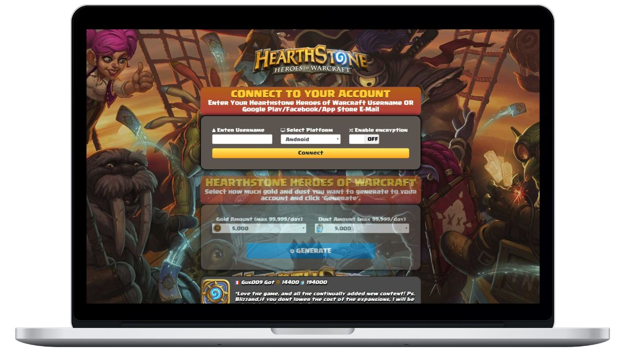 Hearthstone Heroes of Warcraft hack gold generator