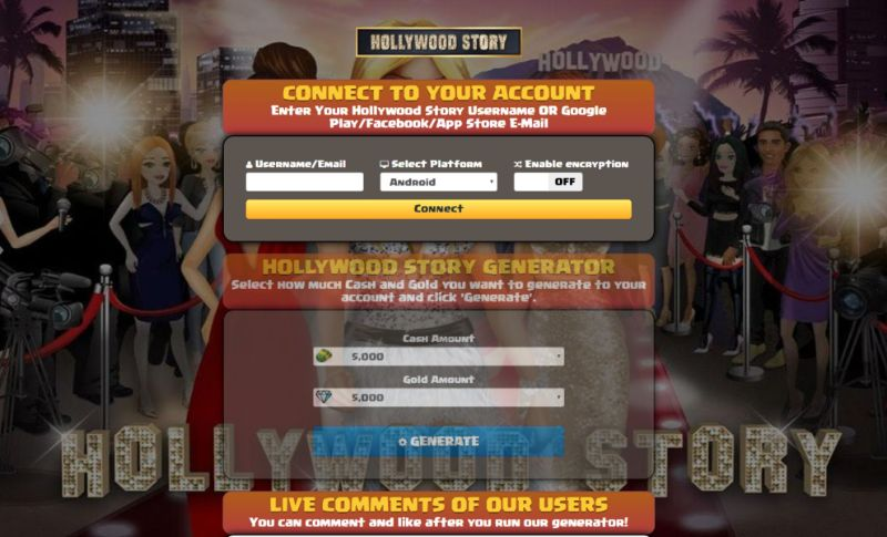 Hollywood Story hack 2019