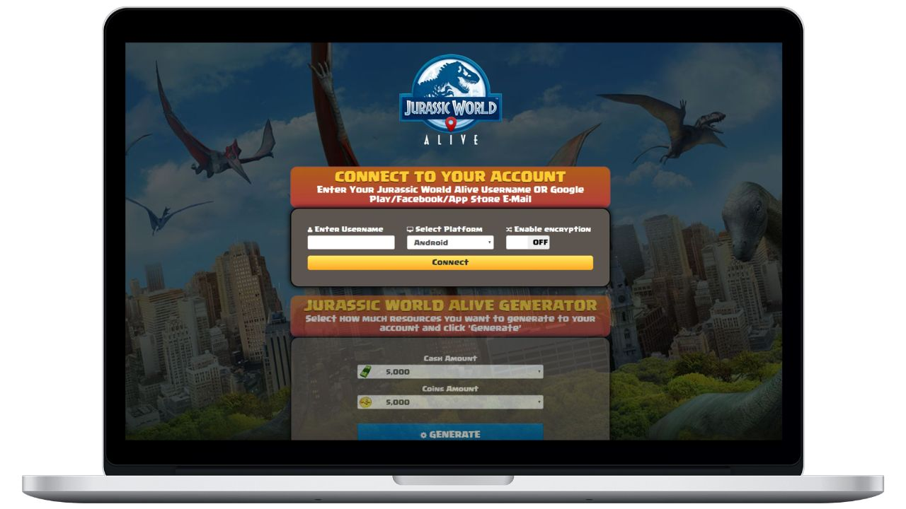 Jurassic World Alive hack cash generator