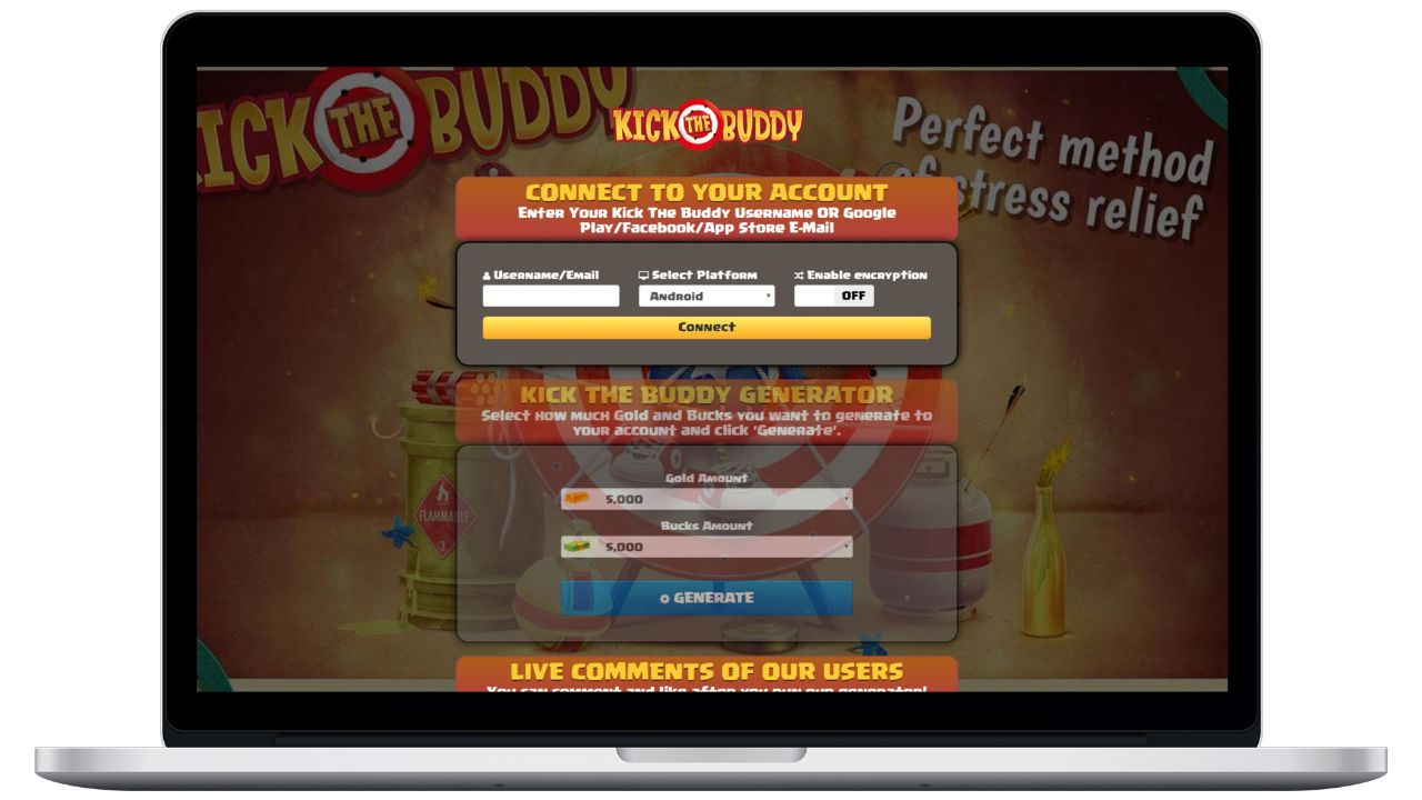 Kick The Buddy hack gold generator