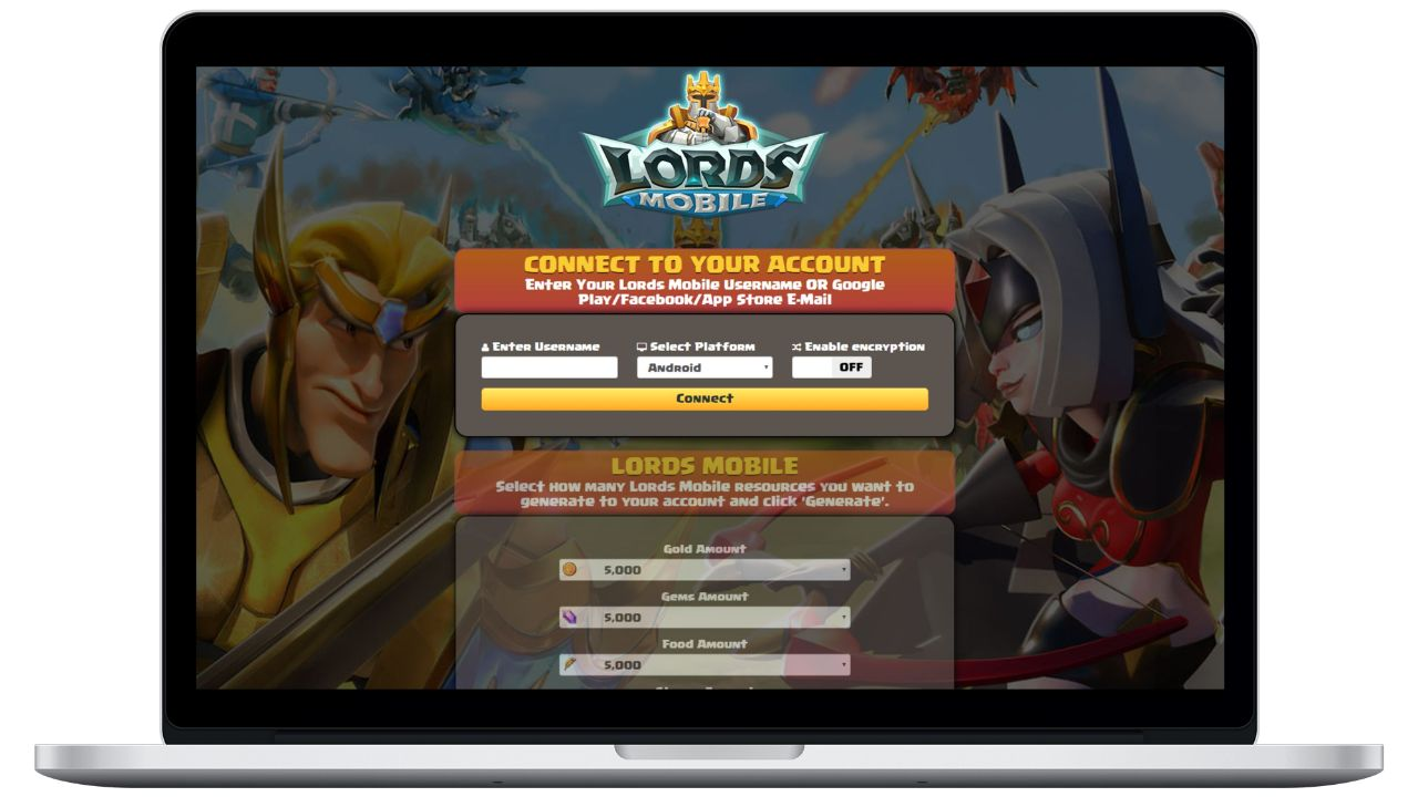 Lords Mobile hack gold generator