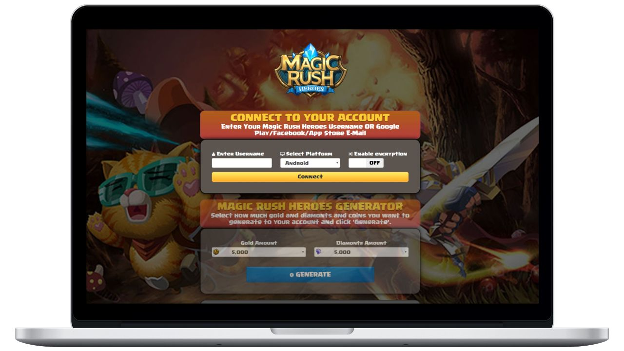 Magic Rush Heroes hack gold generator