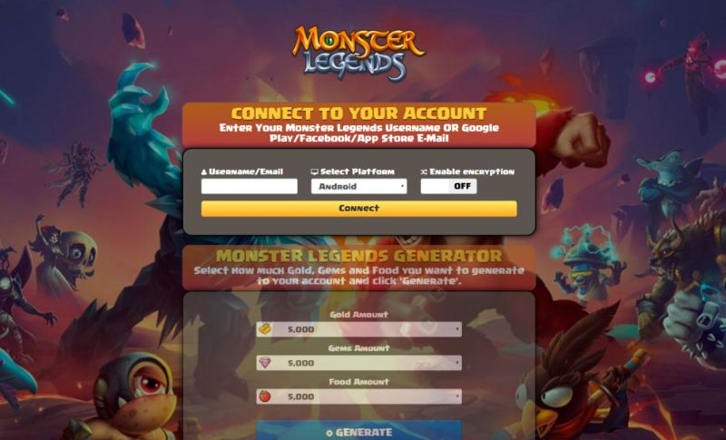 Monster Legends hack 2019