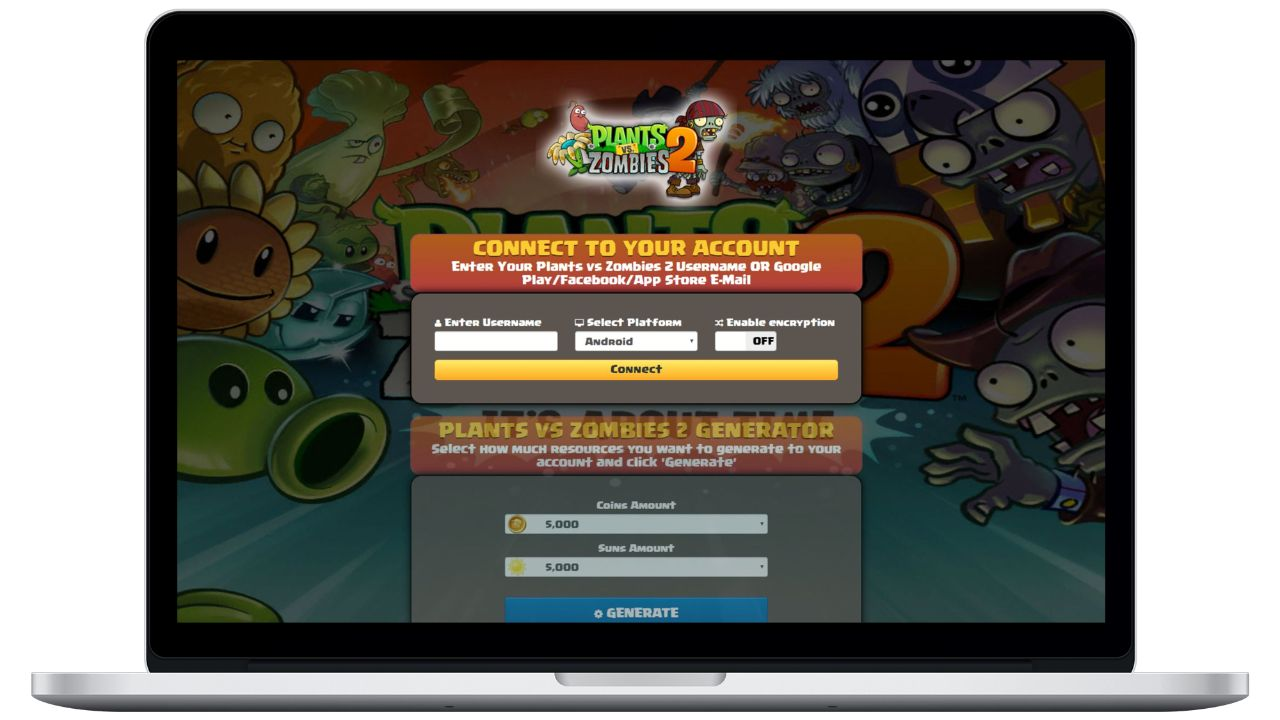 Plants vs Zombies 2 hack coins generator