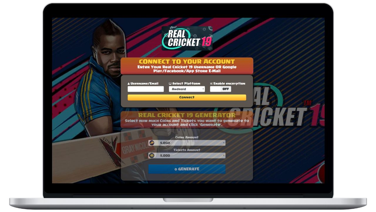 Real Cricket 19 hack coins generator