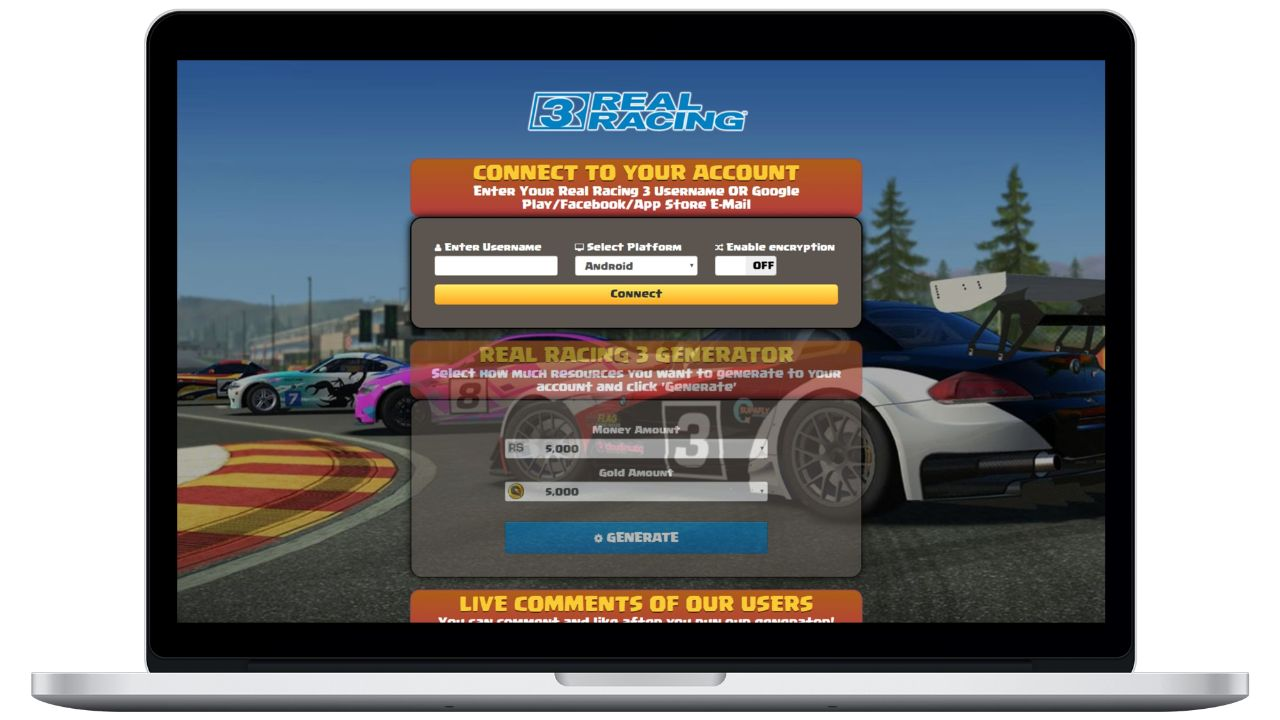 Real Racing 3 hack gold generator