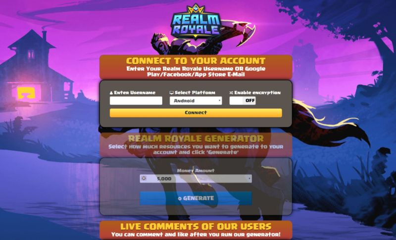 Realm Royale hack 2019