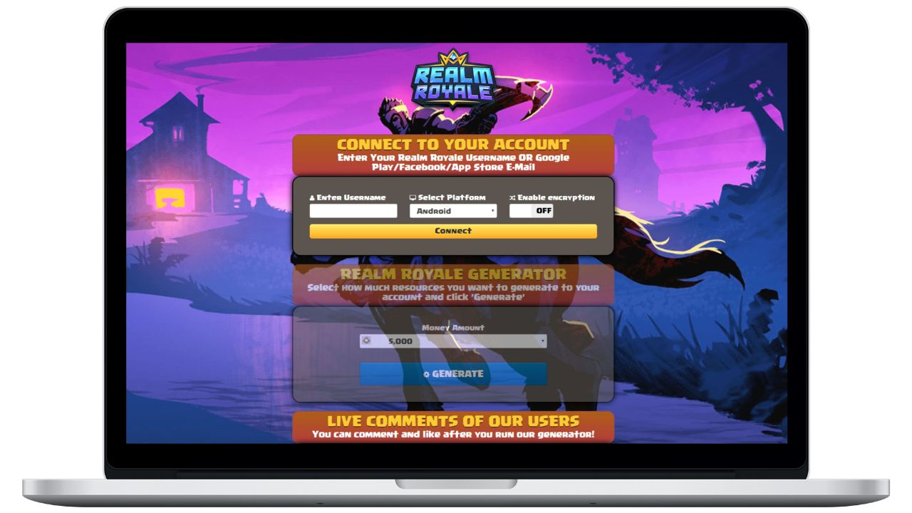Realm Royale hack money generator
