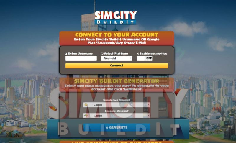 Simcity BuildIt hack 2019