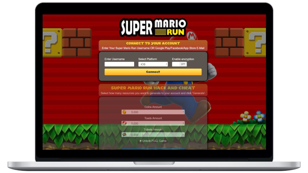 Super Mario Run hack toads generator