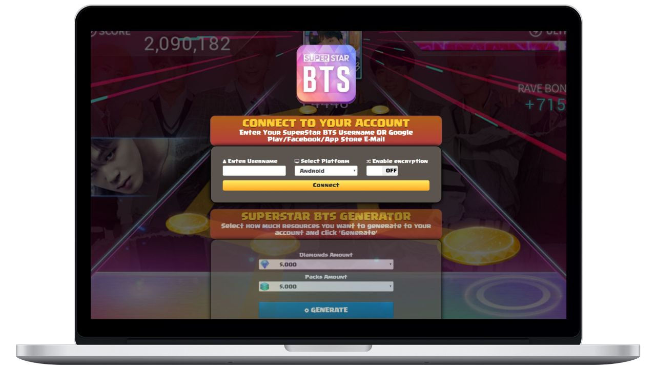 SuperStar BTS hack diamonds generator
