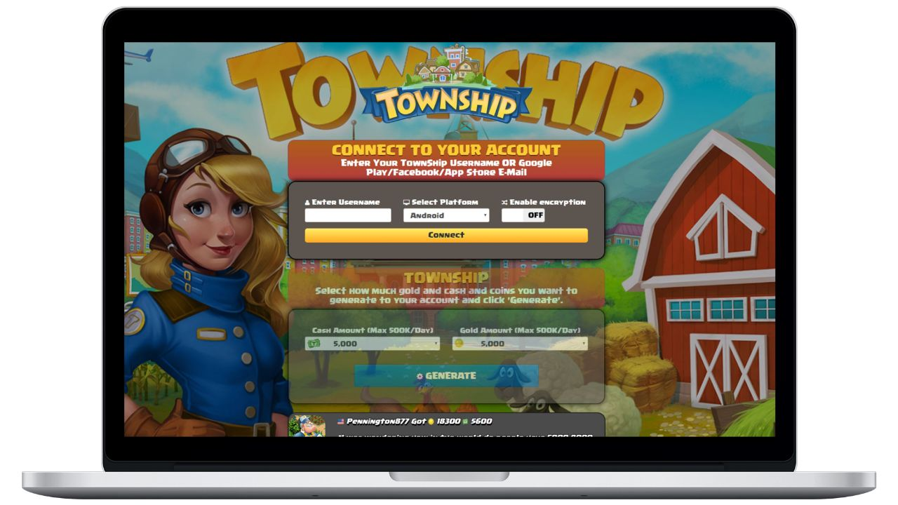 TownShip hack gold generator