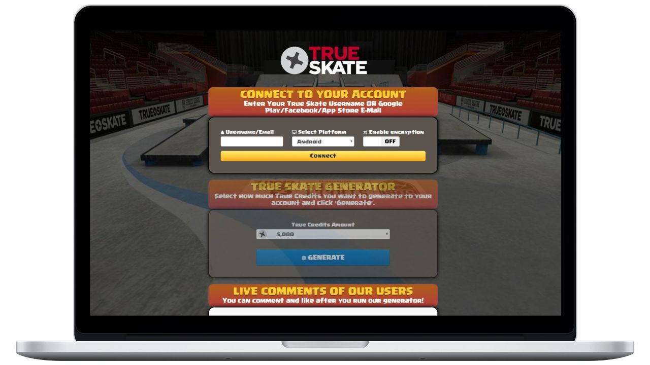 True Skate hack cash generator